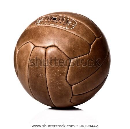 öreg futballabda leharcolt út textúra Föld Stock fotó © IMaster