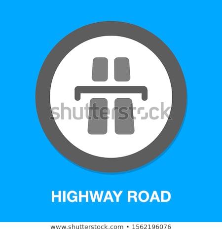 branco · linha · asfalto · estrada · nuvens · árvore - foto stock © stockfrank