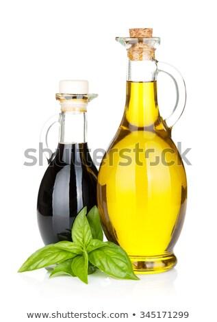 Vinagre aceite de oliva almuerzo jardín luz verano Foto stock © tannjuska