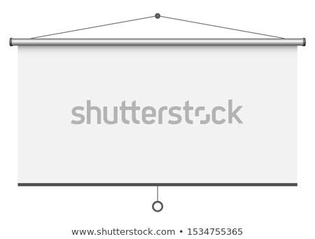 blank portable projection screen vector illustration stock photo © konturvid