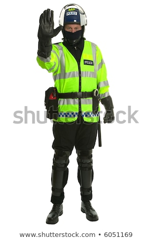 policeman in riot gear   stop stock photo © rtimages