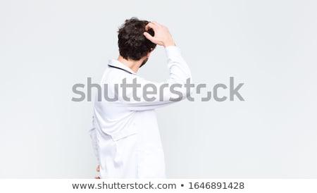 Elegante man achteruit business haren uitvoerende Stockfoto © photography33