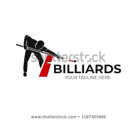 Snooker klub asztal medence labda fekete Stock fotó © shutswis