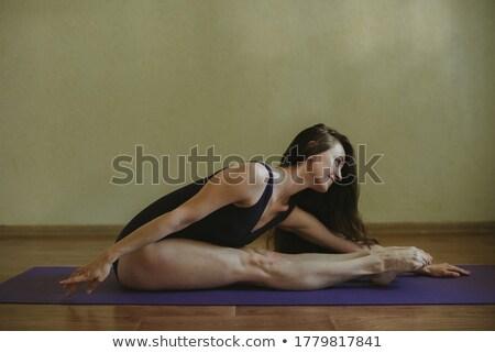 dancer bending to her side Stock photo © feedough