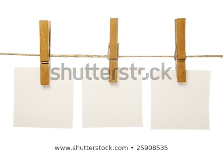 Close up of a note and a clothes peg Stock photo © grafvision