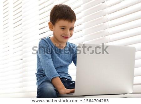 laptop · tabela · moderno · escritório · internet · tecnologia - foto stock © antonprado
