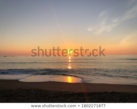 sea waves and blue sky with cloudy heart stock photo © vkraskouski