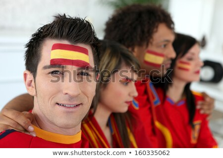 Two Spanish couples gathered to watch the football Stock photo © photography33
