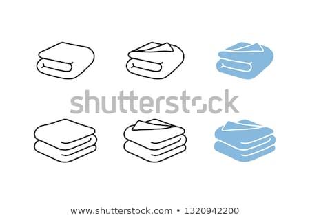 Battaniye atış renkli ev kumaş Stok fotoğraf © kitch