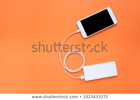 The orange connected through usb cable Stock photo © acidgrey