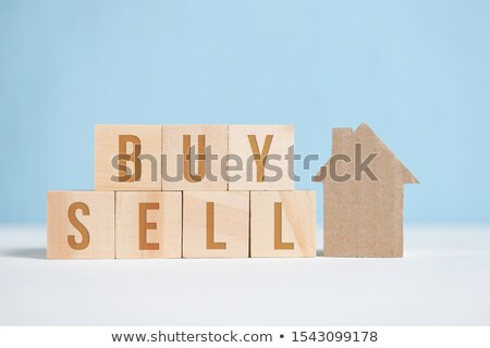 House made of paper with the inscription SALE Stock photo © a2bb5s