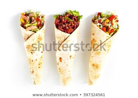 Shrimp sandwich, isolated on white background stock photo © moses