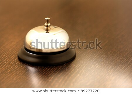 Foto stock: Vintage Brass Bell On Hotel