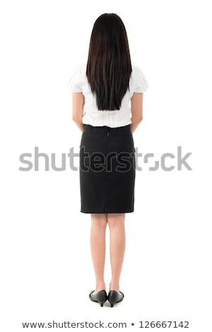 Full Body Rear View Of Beautiful Asian Girl Foto d'archivio © szefei