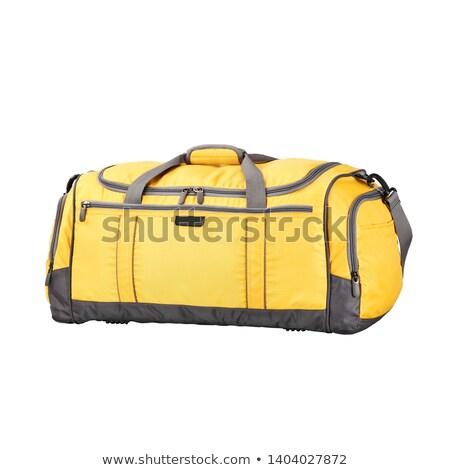 Czarny bagaż worek biały podróży bilet Zdjęcia stock © ozaiachin