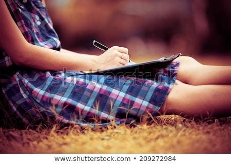 Menina escrita certo negócio terno palavra Foto stock © a2bb5s