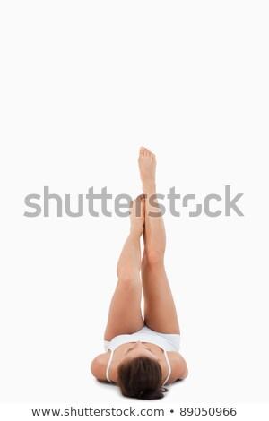 portret · kobieta · nogi · w · górę · biały · zdrowia - zdjęcia stock © wavebreak_media