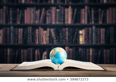 Photo stock: Livres · monde · illustration · blanche · mer · monde