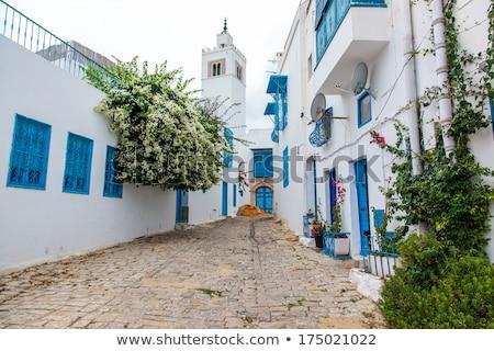 Mesquita Tunísia minarete local tradicional cores Foto stock © 5xinc