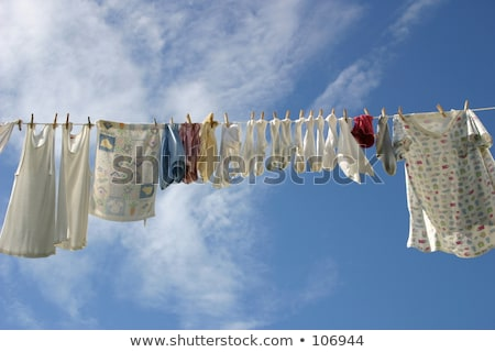 red panties hung on the clothes line stock photo © grazvydas