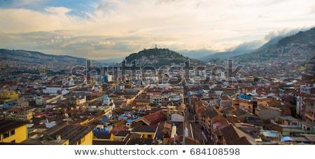 Эквадор холме мнение домах украшения город Сток-фото © jkraft5