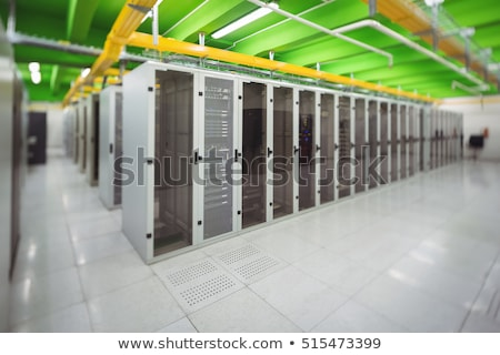 Hallway with a row of servers in data center Stock photo © wavebreak_media