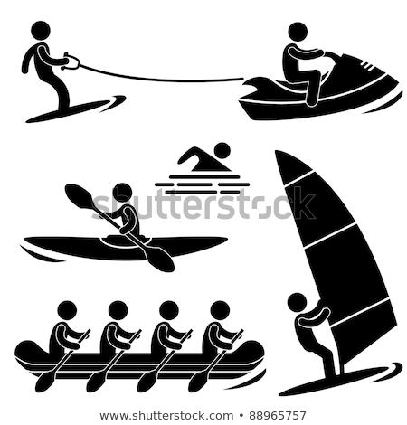Agua mar deporte remo rafting kayak Foto stock © Hermione