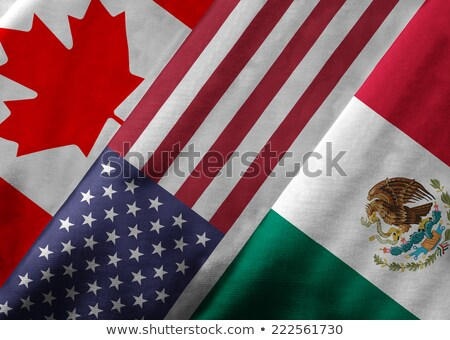 USA Canada échanges symbole deux rouge Photo stock © Lightsource