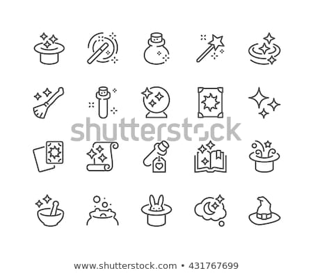 vector icon rabbit in hat stock photo © zzve