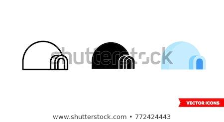 vektör · ikon · eskimo · kulübesi - stok fotoğraf © zzve