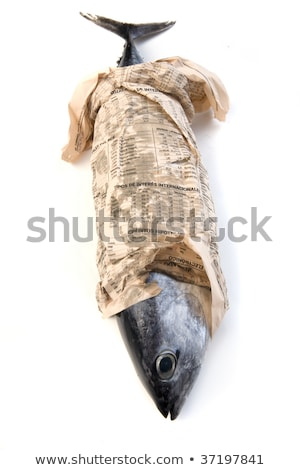 fish wrapped in newspaper stock photo © cteconsulting