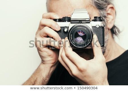 クローズアップ カメラマン カメラ 男性 白 デジタルカメラ ストックフォト © wavebreak_media