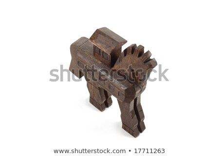 Stock photo: The copy of Troy wooden horse at Canakkale