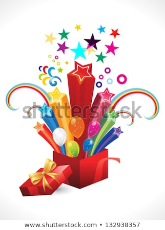 abstract colorful explode magic box Stock photo © rioillustrator
