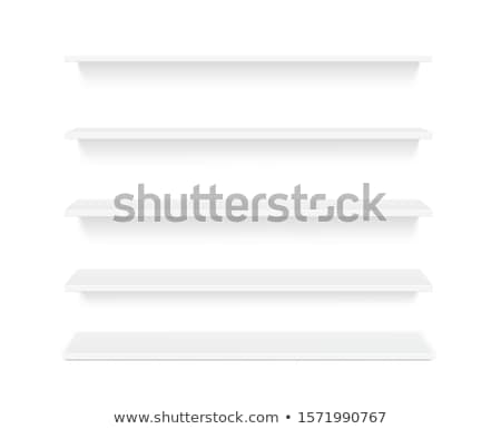 Vector wooden realistic bookshelf template with your product  Stock photo © orson