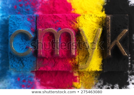 cmyk made from letterpress blocks stock photo © sqback
