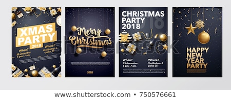 Golden christmas surprise gift stock photo © milsiart