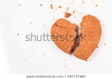 broken gingerbread heart stock photo © foka