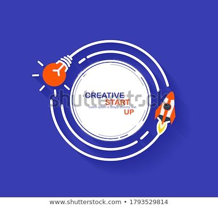 rocket circle stock photo © lightsource