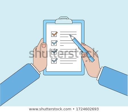 notepaper on business plan Stock photo © jirkaejc