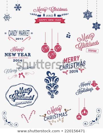 klasszikus · karácsonyi · üdvözlet · díszes · elegáns · retro · absztrakt - stock fotó © davidarts