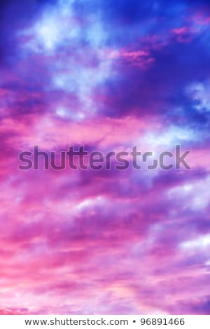Altocumulus clouds - natural beauty contrast background Stock photo © pzaxe