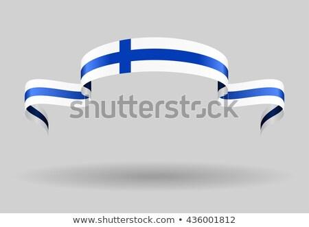 Ribbon banner - finnish flag Stock photo © StockwerkDK