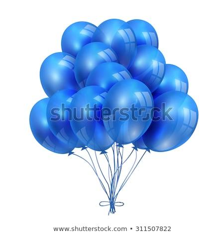 Rood Blauw decoratief ballon menselijke cijfer Stockfoto © stocker