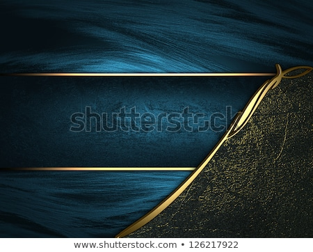 background with grunge texture and metallic blue ribbon Stock photo © marimorena