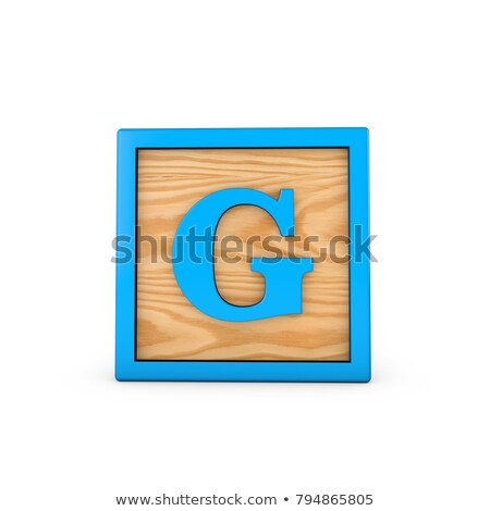 Letter G on Childrens Alphabet Block. Stock photo © tashatuvango