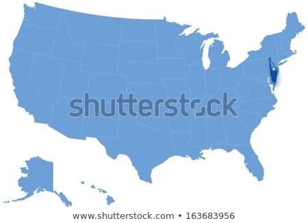 Harita Amerika Birleşik Devletleri Delaware dışarı siyasi tüm Stok fotoğraf © Istanbul2009