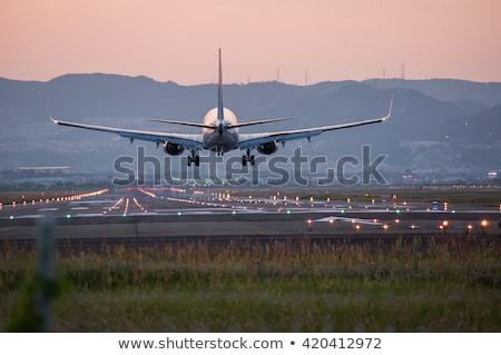 aircraft in landing approach Stock photo © meinzahn