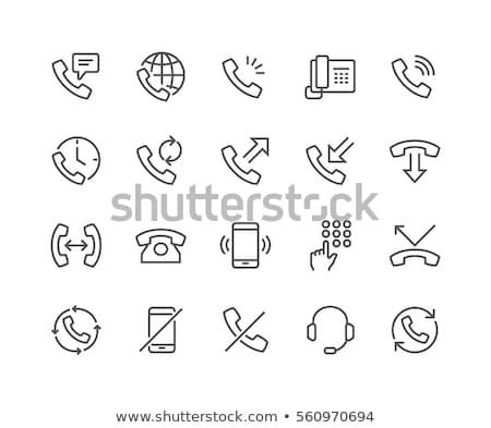 мобильного · телефона · икона · вектора · иллюстрация · изолированный · белый - Сток-фото © cherezoff