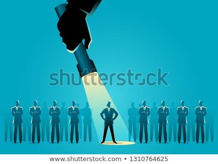 Escolhido empresário vetor homens sucesso gerente Foto stock © burakowski